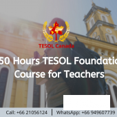150 Hours TESOL Foundation Course for Teacher