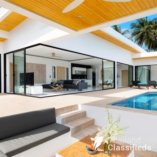 New Modern 3 Bed Private Pool Villa in Chaweng Hills, Koh Samui